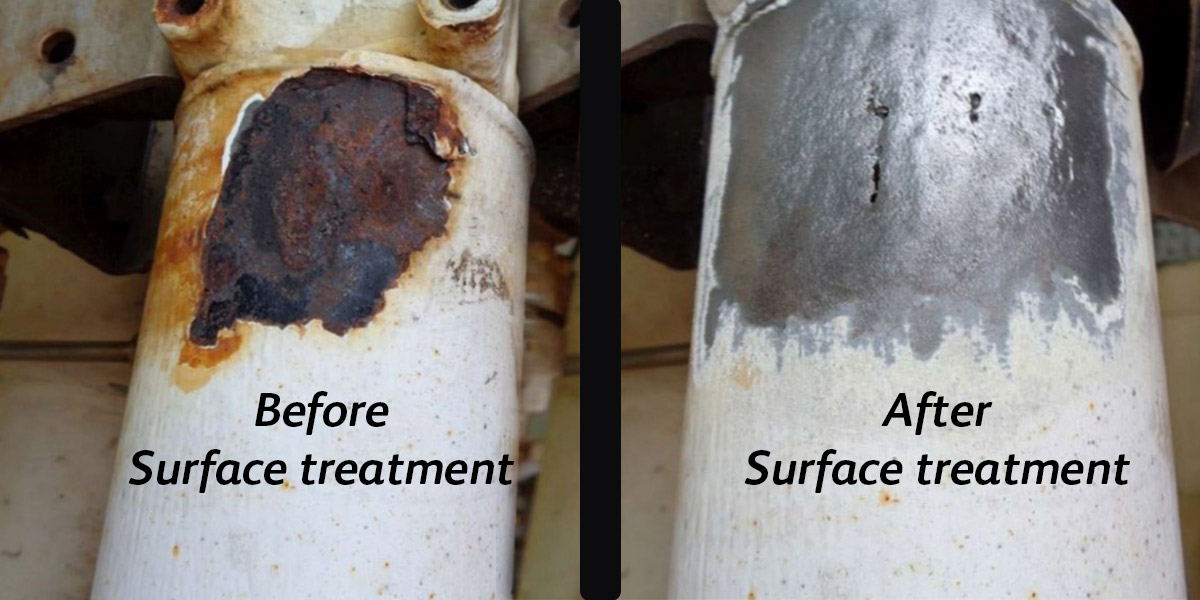 Before and after surface treatment